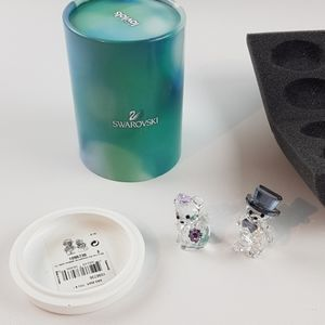Swarovski crystal married bear wedding kris love u